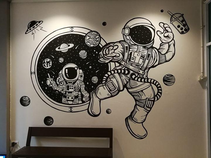 Space Tea ชานมไต้หวัน บุฟเฟต์ไข่มุกตักเอง