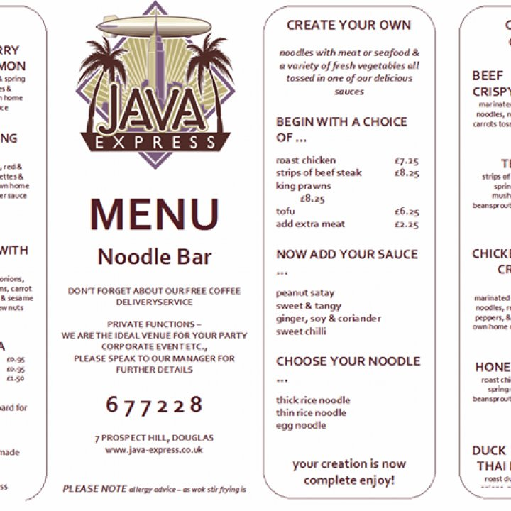 Java Express Coffee Shop & Noodle Bar